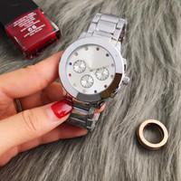 ingrosso branding di orologi-New Vogue 2019 Brand Watches Uomo Donna Casual Designer Fashion Acciaio inossidabile Oro Oro rosa Vestito donna Orologi da polso Drop shipping