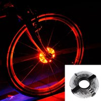 Wholesale Cycling Hubs - Wholesale- Leadbike 2016 New Bicycle Cycling Hubs Light Bike Front Tail Light Led Spoke Wheel Warning Light Waterproof Bike Accessories