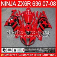 Wholesale Black Ninja Stars - Bodywork For KAWASAKI NINJA ZX636 ZX6R 07 08 600CC ZX600 C Black stars 26NO9 ZX 600 ZX 636 ZX 6R 07 08 ZX-636 ZX-6R 2007 2008 Fairing kit