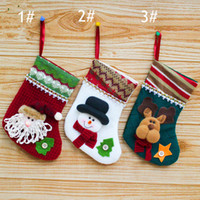 Wholesale Christmas Socks Decorate - 1pcs lot Large Creative Christmas ornaments small Christmas gift bag Christmas stockings decorated with Santa Claus Gift Bag Socks 85005