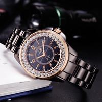 sinobi cerámica al por mayor-SINOBI 2017 Moda Diamantes Reloj de la marca de fábrica de las mujeres de imitación de cerámica Banda de reloj Top Señoras Ginebra Cuarzo Reloj femenino
