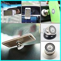 Wholesale Mini Gps Magnet - Magnetic 360 Degree Rotation Mini Car Mounts Holder Magnet Dashboard mobile phone Holders For Apple iPhone Samsung SmartPhone GPS Brakcet