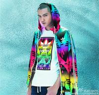 Wholesale Mens Zip Coats - New Mens Hooded Jacket Coat Size 3XL Floral Printed Zip Up Hoodies Jacket Men Slim Fit Mens Jackets Coats