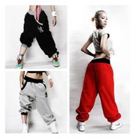 Wholesale Womens Dance - Wholesale-Mens Womens Trousers Slacks Casual Harem Baggy Hip Hop Dance Sweat Pants
