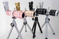 Wholesale Mobile Phones Telescope Camera 12x - Clip-on 12x Optical Zoom phone lens selfie cam HD Telescope Camera Lens For Universal Mobile Phone