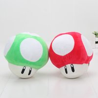 Wholesale Mario Bros Plush Doll Set - 2pcs set 11cm Super Mario Bros Mushroom Plush Mario Plush Doll Stuffed Toy with Ring Near Year Gifts