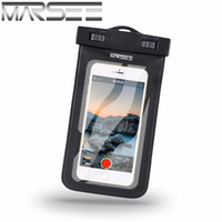 Wholesale Iphone Wallet Lanyard - Waterproof phone Case For iphone 7 7 plus MARSEE IPX8 Universal Dry Bag with LANYARD Best WaterProof Dustproof Snow proof Pouch