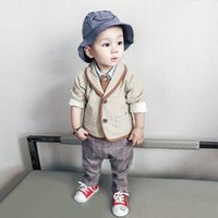 Wholesale Children S Summer Wears - 2017 Children fall suit children's wear the 1-2-3-4-5 years old gentleman boy's clothes In the autumn of baby three-piece suits