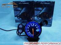 Wholesale Stepper Motor Gauges - HB 80mm DEFI Tachometer Stepper Motor BF Style RPM Auto Gauge Blue Led With Shift Light