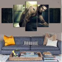 Wholesale Tv Wall Drop - Modern Arrow TV Series Poster Canvas Paintings 5 Panel No Frame Wall Pictures For Living room Home decor Drop shipping
