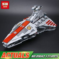 Wholesale Old Republic - LEPIN 05042 The Republic Fighting Cruiser Set Building Blocks Toys