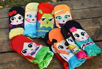 Wholesale Cartoon Slippers Women - Girl Socks Women Socks Girl Cartoon Pattern Socks Cotton Sock Slippers 36 P L Free shipping