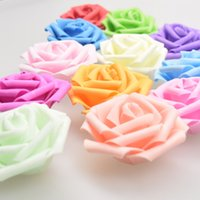 Wholesale 2017 new cm foam flower simulation pe rose head lantern light string rose flower head candy box wedding