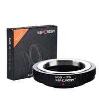 Wholesale fuji camera wholesale online - Lens Mount Adapter Ring For M39 Leica Screw Lens to Fuji X Pro1 X E1 X M1 Camera M39 FX