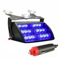 ingrosso luci lampeggianti blu veicoli di emergenza-18 LED lampeggianti lampeggianti per veicoli di emergenza per parabrezza cruscotto luce rosso / blu / ambra / bianco / bianco + ambra / rosso + blu LED auto luce