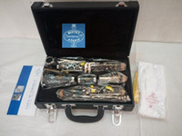 Wholesale Nickel Resin - High Grade Buffet 1825 B18 Clarinet 17 Key Crampon&Cie Apris Clarinet With Black Case Bakelite Tube Clarinet Musical Instruments