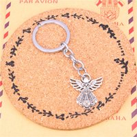 Wholesale Wholesale Wen - Fashion Keychain angel Charm Key ring Accessory Bag Car Key Chains Ring Holder Wen Women Jewelry