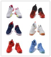 2017 Vente Chaude KD 9 USA Capitaine Olympique Hommes Chaussures de Basket Kd IX 9 s Guerriers Cool Loup Coussin Formation Sneakers