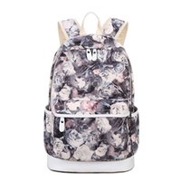 Wholesale unique canvas backpacks - Wholesale- Winner Brand Unique Printing Backpack Women Floral Bookbags Canvas Backpack Schoolbag for Girls Rucksack Casual