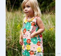 Wholesale American Girl Zebra Dress - 2017 15 style BST21 NEW ARRIVAL Little Maven girls Kids 100%Cotton short sleeve cartoon elephant zebra print dress causal summer dresses