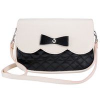 Wholesale Lovely Bowknot Wallet - Wholesale- New Women Ladies PU Leather Wallet Fashion Lovely Girl Bowknot Bags 2017 High quality Clutch Wallets