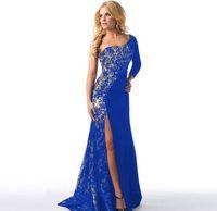 vestidos de festa europeus venda por atacado-Novo europeu sexy lace party vestido de noite saia vestido de moda senhoras de luxo ombro vestido de festa nupcial