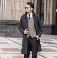 Cheap Mens Grey Wool Pea Coat | Free Shipping Mens Grey Wool Pea ...