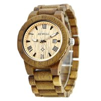 Wholesale Watch Dispaly - BEWELL Wood Watch Watches Luxury Wooden Band with Date Dispaly Best Gifts for Men on Sale ZS-109BMan