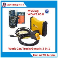 Wholesale Multi Diag Truck - Best Chip Board MVD Bluetooth MVDiag Car Truck Diagnostic Tool TCS New VCI 3 IN 1 Multi Vehicle Diag Newest Software 5.00.8 R2 R3