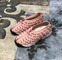 Wholesale Hand Made Shoes - 2017 Autumn Female Fashion Casual Woman shoes Round toe Pearl Rivets Design Brand Lady Leisure Shoes Hand Made Fashion Footwear ML159