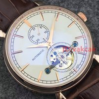 Wholesale Transparent Watch Leather Red - New VC Transparent Leather Mechanical Men's Stainless Steel Automatic Movement Watch Sports mens Self-wind Watches Wristwatches