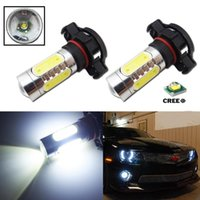 Wholesale Lamp Led H16 - Free shipping 2Pcs H16 Clear HID White 2504 PSX24W 11W CREE CHIP LED DRL Fog Lamp Bulb
