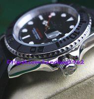 Wholesale Men S Automatic Mechanical Rubber - Luxury Top High Quality Automatic Men 's Mens Watches Men Wrist watch 116655 Black Dial black ceramic BEZEL Stainless Steel Rubber Strap Ban