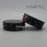 cabelo de luxo venda por atacado-Atacado- 60 X 100ml Classic Black alumínio latas 100g Upscale cabelo creme Jar atacado
