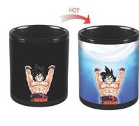 Wholesale One Piece Dragon Ball - Dragon Ball Z Mug SON Goku Mug One Piece Hot Color Changing Cups Heat Reactive Mugs Saiyan Cups Milk Coffee Mugs Goku KKA1777