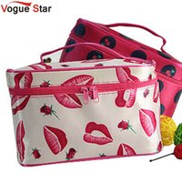 Wholesale Train Purse - Wholesale- !New Portable Type Bag Zipper Cosmetic Storage Make up Bag Jewelry bag Handle Train Case Purse Toiletry Pouch YA40-100