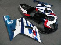 Wholesale Silver Blue Gsxr Fairings - Body Kit FIT For Suzuki white blue red black GSX R 750 01 02 03 GSXR 600 2001-2003 GSXR600 750 2001 2002 2003 Aftermarket ABS Fairing