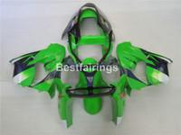 carrinhos zx9r venda por atacado-kit carenagem de plástico da motocicleta para Kawasaki Ninja ZX9R 02 03 carenagens preto verde definir ZX9R 2002 2003 IU05