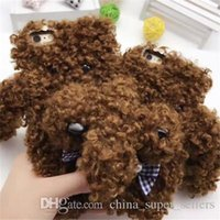 Wholesale Iphone Dog Hard Case - New cartoon plush big ears Teddy dog 7 generation hard shell phone case i7plus phone shell