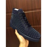 Wholesale Wholesale Fashion Shoes For Women - 2017 Fashion Casual Shoes Red Bottoms Luxury Top Studded Spikes For Men and Women leisure trainer footwear Skateboarding Genuine Leather