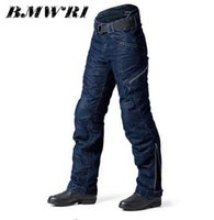 Wholesale Motorbike Jeans - 2017 New High qulity Arrival PRMCN R1 Protective Motorcycle Pants Harley Rider Loose-fitting Motorbike Jeans With Protectors
