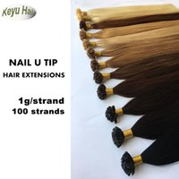 Wholesale Remy U Tip 1g Strands - 1g  strand 100g Brazilian U-tip Human Pre-bonded Hair Extensions Virgin Remy Human Hair Brazilian Straight Keratin Hair Extensions