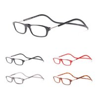 Wholesale Fashion Folding Magnets Magnifying Reading Glasses Magnetic Front Connect Unisex Eyeglasses Hang Folding Reader With Degree ZA1933