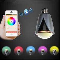 Wholesale Bluetooth Surface Speaker - CE ROHS AC100v 220v 230v 240v Smart LED Bulb Bluetooth Speaker E27 Wireless Music player LED lamp with Remote Controller