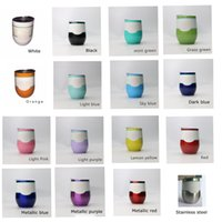 Wholesale New oz CUP egg shape cups mugs colors available with lable stainless steel mugs with lid