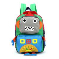Wholesale Toddler Canvas Backpacks - Children Robot backpack Canvas Boys Girls Kids Backpack Child Book Bag Toddler Kid School Bags L01-BP-ktfbjq