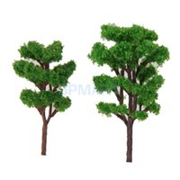 Wholesale Plastic Train Trees - Wholesale- 20pcs Layout Model Train Bombax Trees Forest Scale 1 150 8.3CM