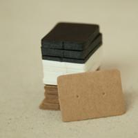 karton hängen groihandel-Großhandels-2.5 * 3.5cm Schmuck Ohrring-Ohr-Bolzen-hängende Halter-Anzeigen-Hang-Papier-Pappkarten Kraftpapier-Paket für Partei 50Pcs / lot
