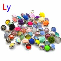 Wholesale Acrylic Bead European Mixed - cartton noosa Interchangeable Snap Buttons DIY Jewelry Accessory Ginger Snap Jewelry Mix styles Round 12mm noosa NR0088