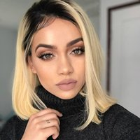 Wholesale Wig Short Blonde Heat - 613 Blonde Wigs Natural Looking Long Blonde Lace Front Wigs Natural Straight Ombre Human Lace Front Ombre Blonde Wig Heat Resistant